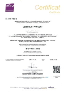 CSV INDUSTRIE ISO9001